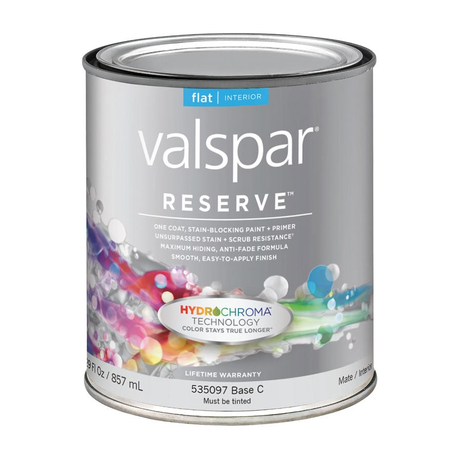 Reserve Reserve White Flat Latex Interior Paint and Primer in One (Actual Net Contents: 29-fl oz)