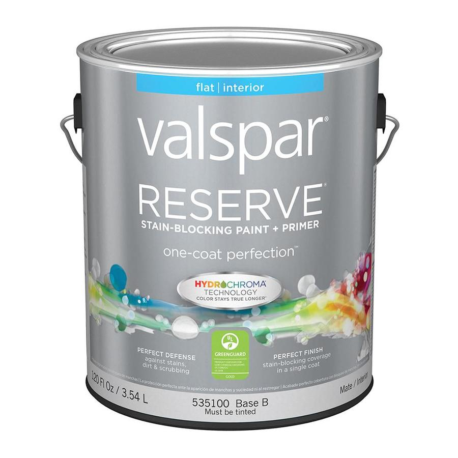 Valspar Reserve Flat Latex Interior Paint and Primer in One (Actual Net Contents: 120-fl oz)