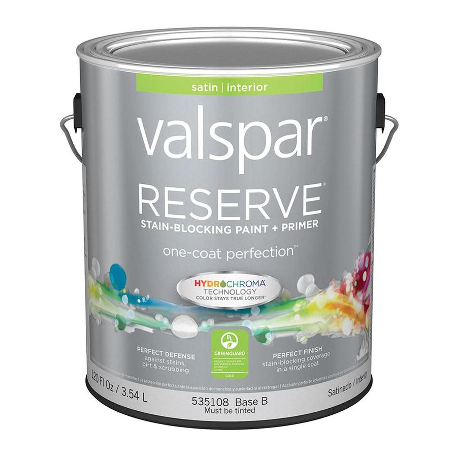 Shop Valspar Reserve Satin Latex Interior Paint And Primer In One Actual Net Contents 120 Fl