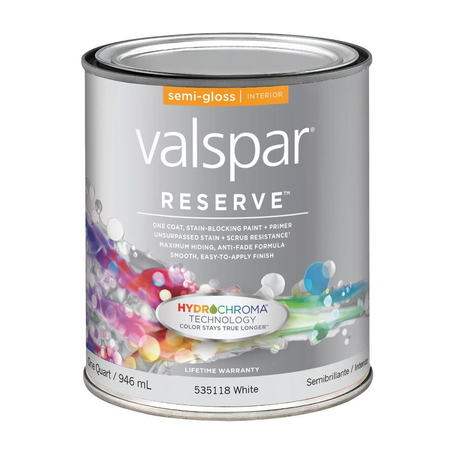 Valspar Reserve White Semi-Gloss Latex Interior Paint and
