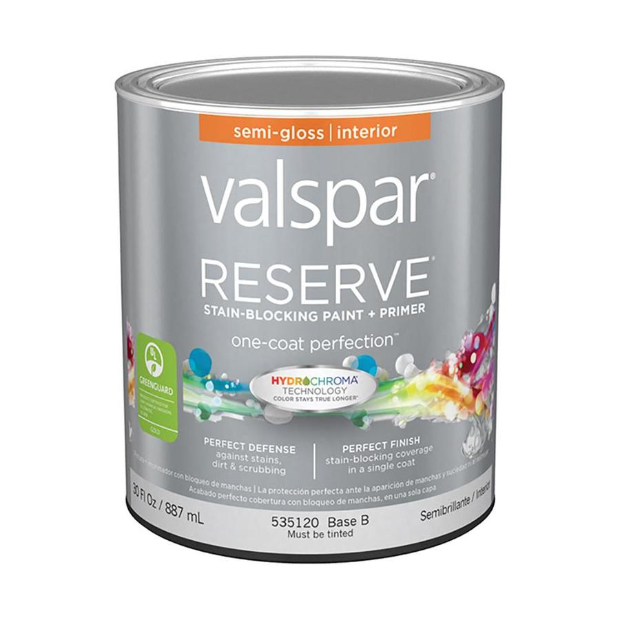 Shop Valspar Reserve Semi Gloss Latex Interior Paint And Primer In One Actual Net Contents 30