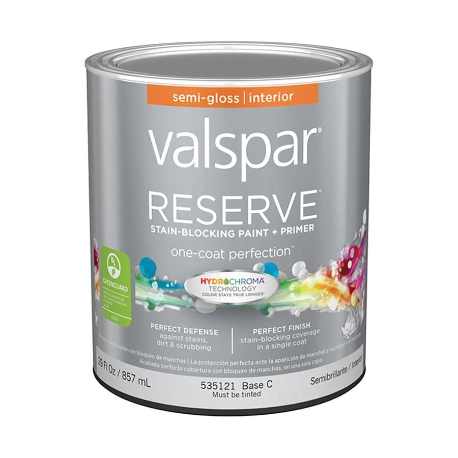 Shop Valspar Reserve Semi Gloss Latex Interior Paint And Primer In One Actual Net Contents 29