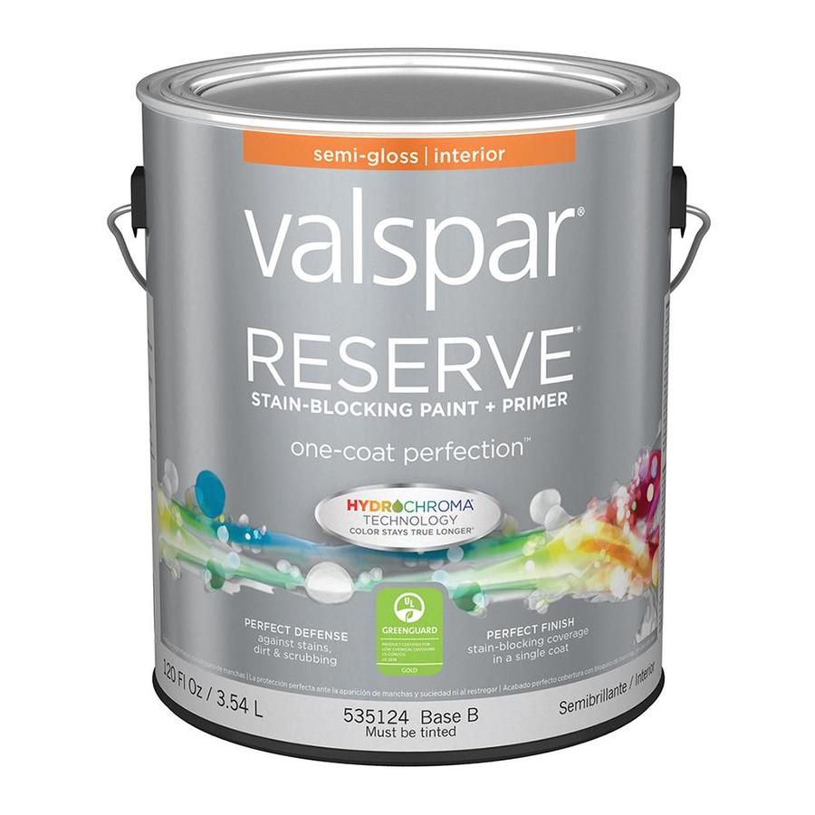 Shop Valspar Reserve Semi Gloss Latex Interior Paint And Primer In One Actual Net Contents 120