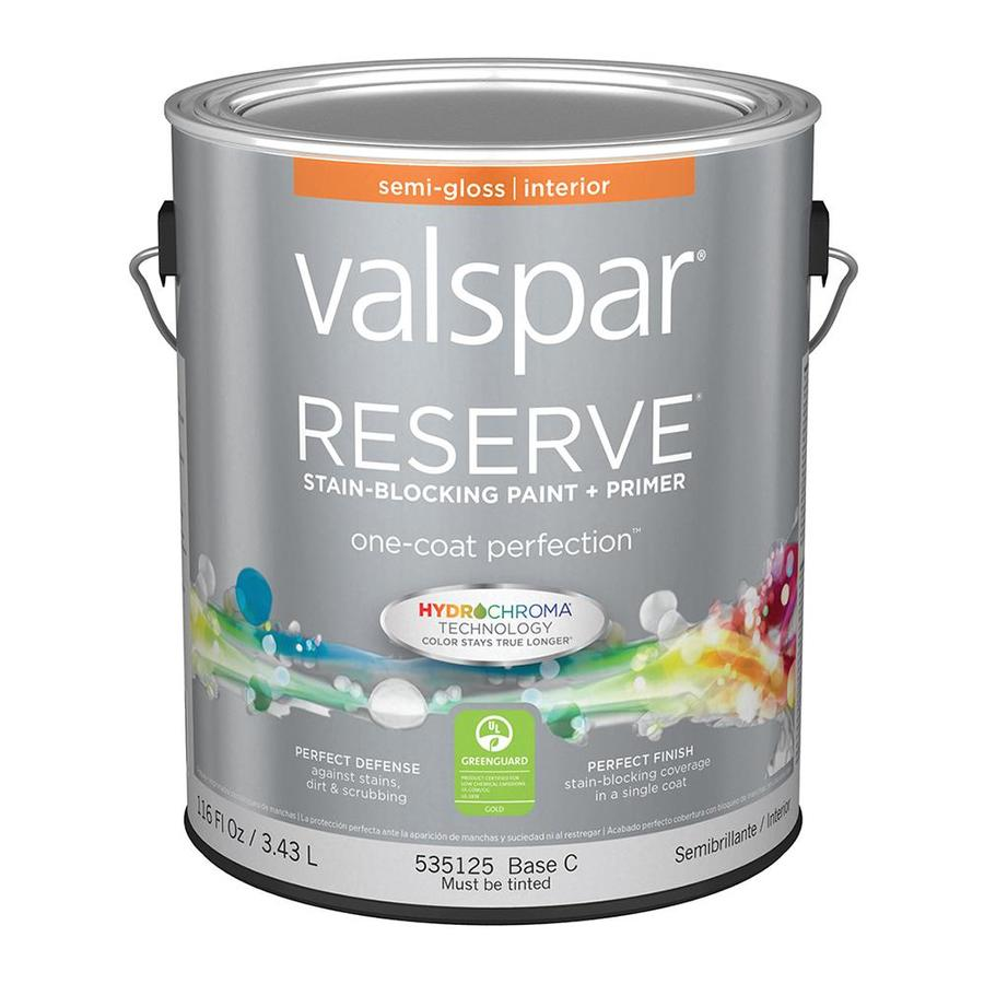 Valspar Reserve Semi-Gloss Latex Interior Paint and Primer in One (Actual Net Contents: 116-fl oz)