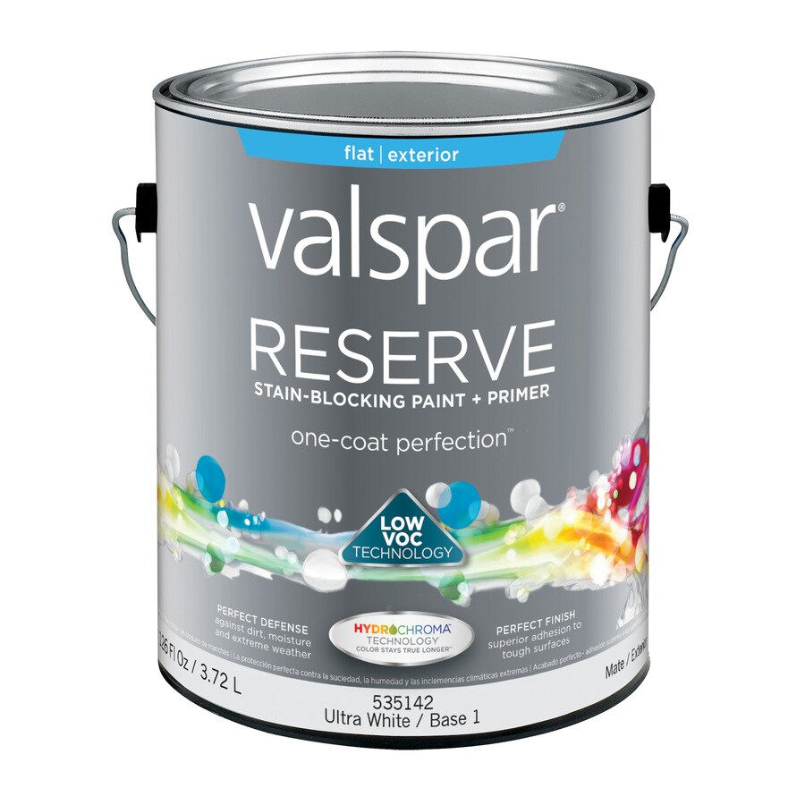 Shop valspar reserve flat latex exterior paint actual net for Valspar com virtual painter