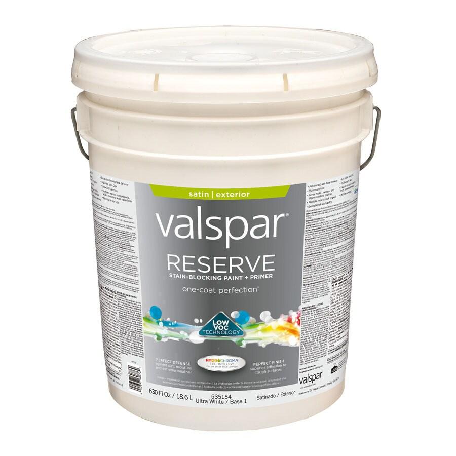 Valspar Reserve Ultra White/Base 1 Satin Exterior Paint (Actual Net Contents: 630-fl oz)