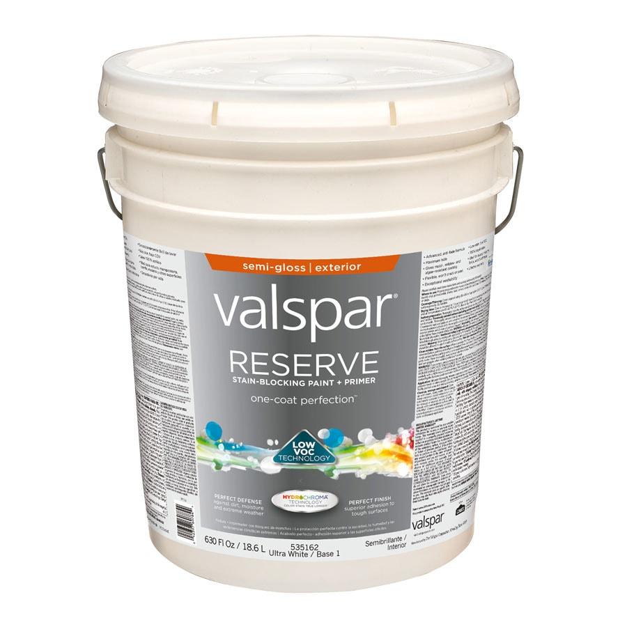 Valspar Reserve Semi-Gloss Latex Exterior Paint (Actual Net Contents: 630-fl oz)