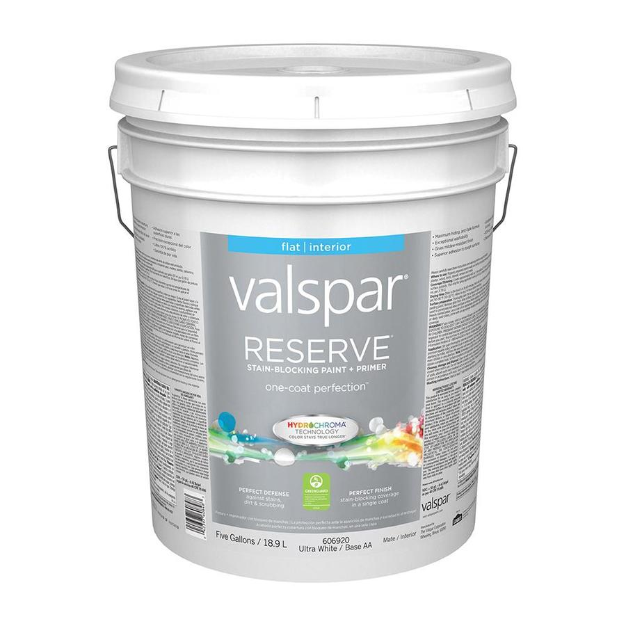 Valspar Reserve Flat Latex Interior Paint and Primer in One (Actual Net Contents: 640-fl oz)