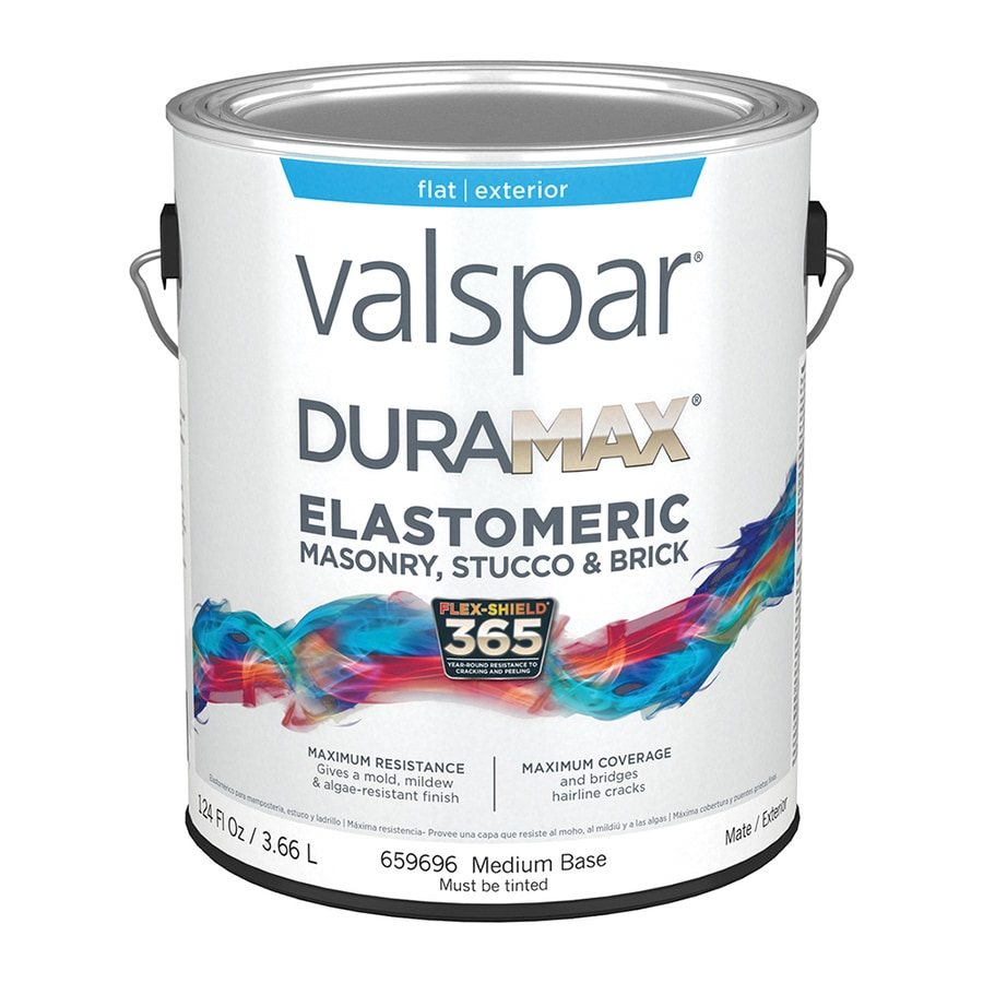 Shop valspar duramax masonry and stucco elastomeric flat - Exterior paint coverage on stucco ...