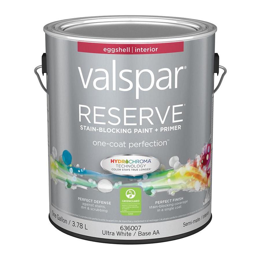 Shop Valspar Reserve Eggshell Latex Interior Paint And
