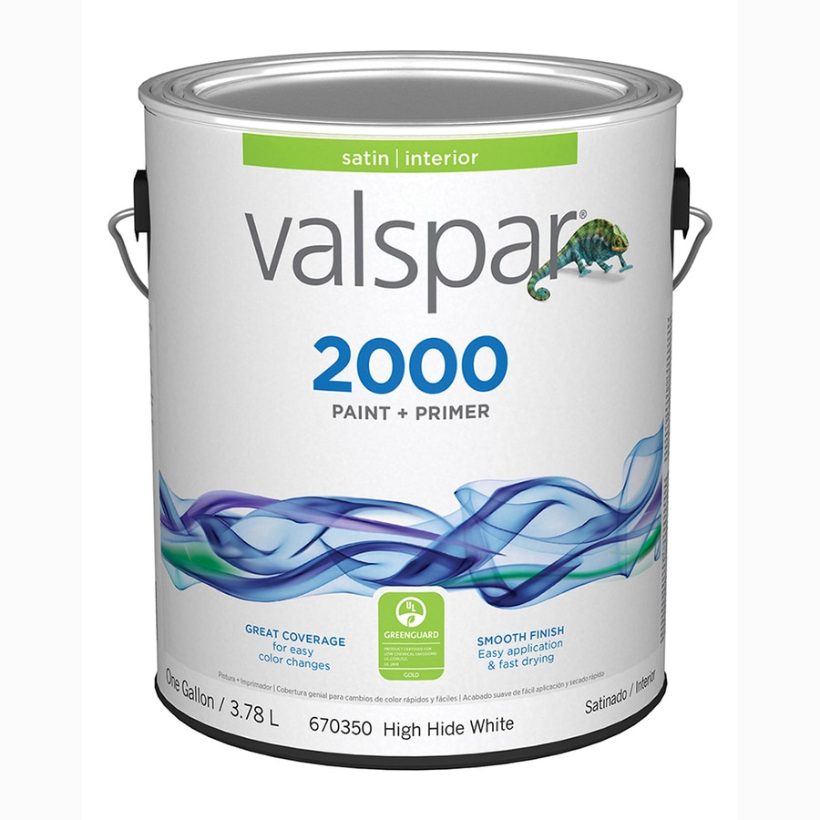 Valspar 2000 satin high hide white latex paint actual net - What is satin paint ...