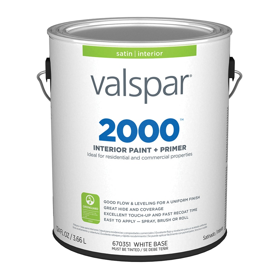 Valspar Ultra 2000 Pastel Base Satin Latex Interior Paint and Primer in One (Actual Net Contents: 124-fl oz)