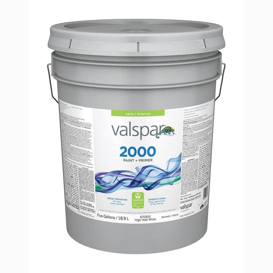 Valspar Ultra 2000 High Hide White Satin Latex Interior Paint and Primer in One (Actual Net Contents: 640-fl oz)