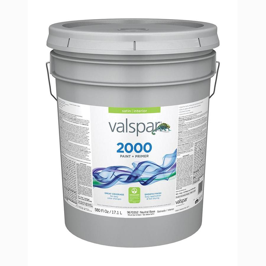 Valspar Ultra 2000 Neutral Base Satin Latex Interior Paint and Primer in One (Actual Net Contents: 580-fl oz)