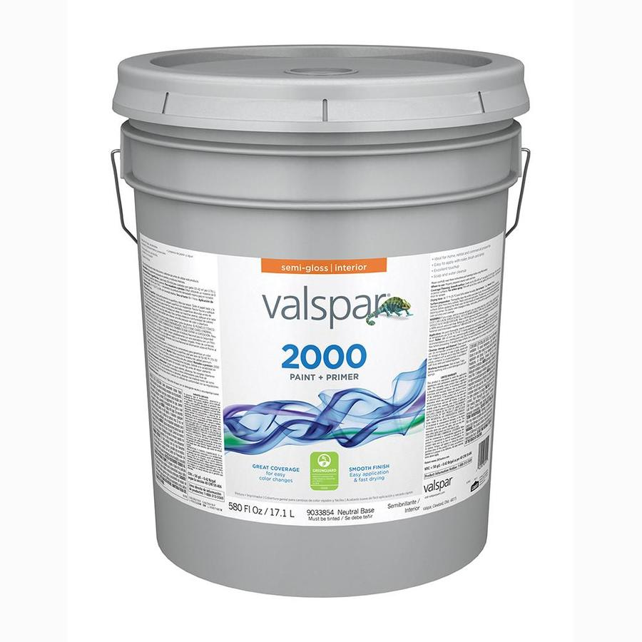 Valspar Ultra 2000 Neutral Base Semi-gloss Latex Interior Paint and Primer in One (Actual Net Contents: 580-fl oz)