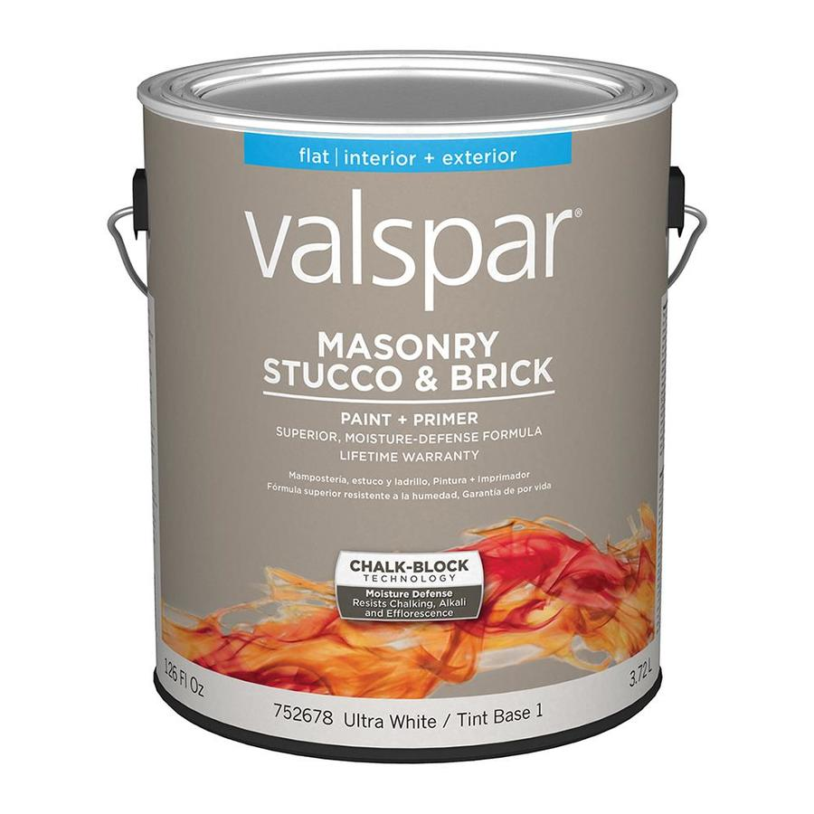 Shop Valspar Masonry Stucco And Brick Flat Latex Interior Exterior Paint Actual Net Contents