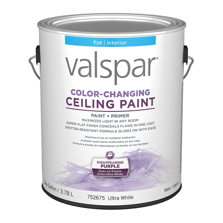 Valspar Ceiling Color Changing Flat Latex Interior Paint And Primer In One  (Actual Net Contents