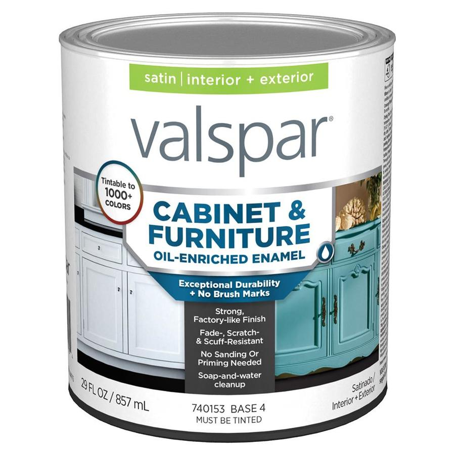 Shop Valspar Furniture Satin Latex Interior Exterior Paint Actual Net Contents 29 Fl Oz At
