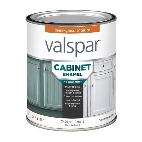 Valspar Cabinet Enamel Base 1 Semi Gloss Enamel Tintable Interior