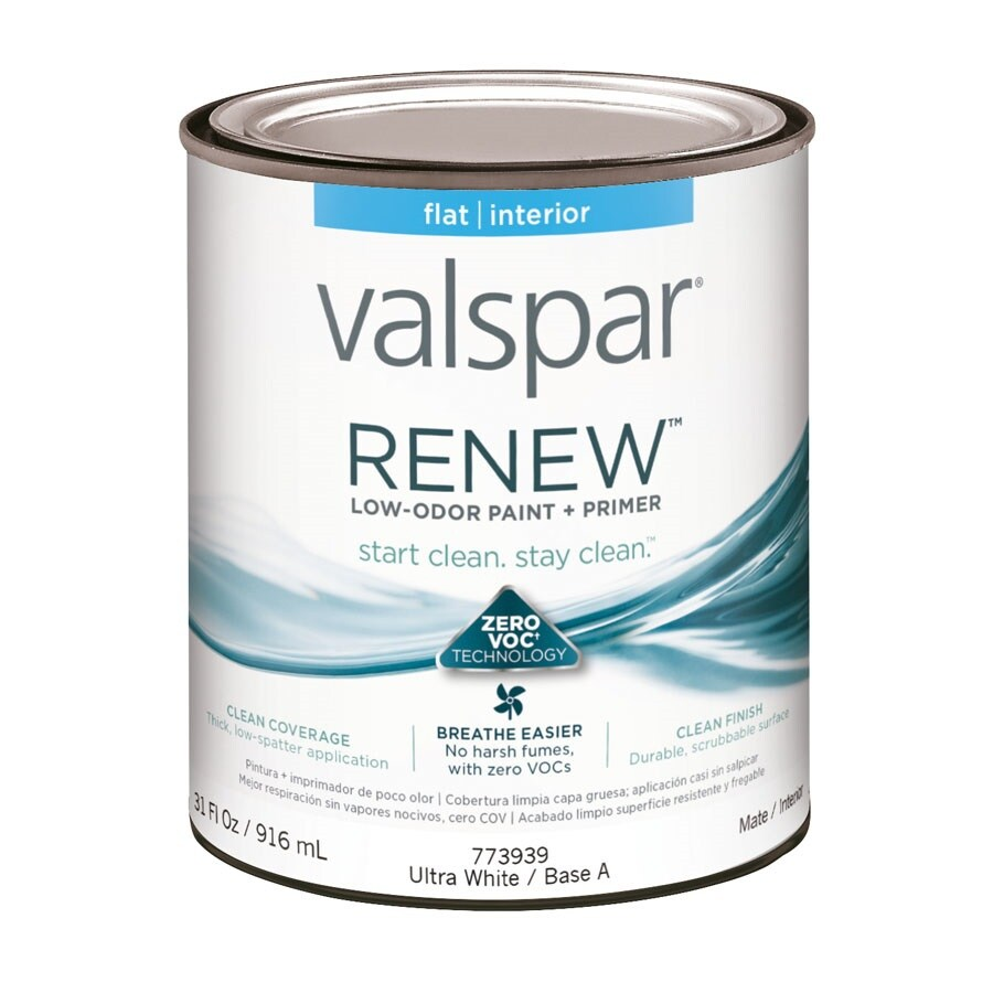 Valspar Renew Flat Latex Interior Paint and Primer in One (Actual Net Contents: 31-fl oz)