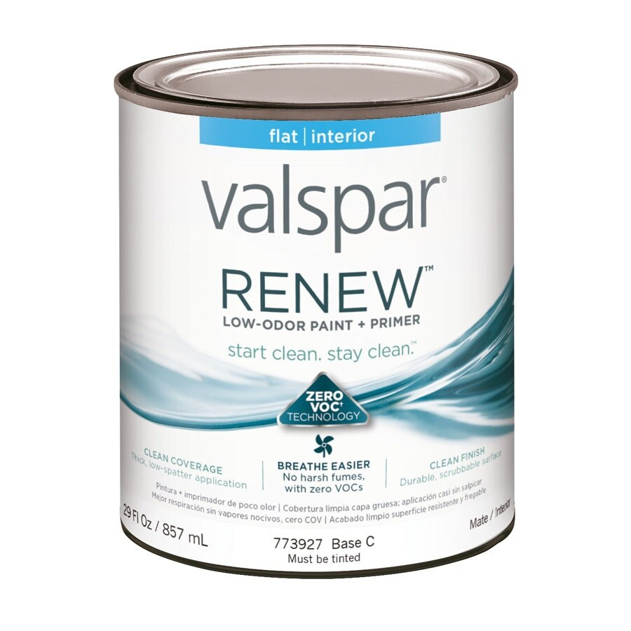 Valspar Renew Flat Latex Interior Paint and Primer in One (Actual Net Contents: 29-fl oz)