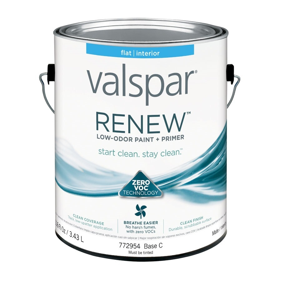 Valspar Renew Flat Latex Interior Paint and Primer in One (Actual Net Contents: 116-fl oz)