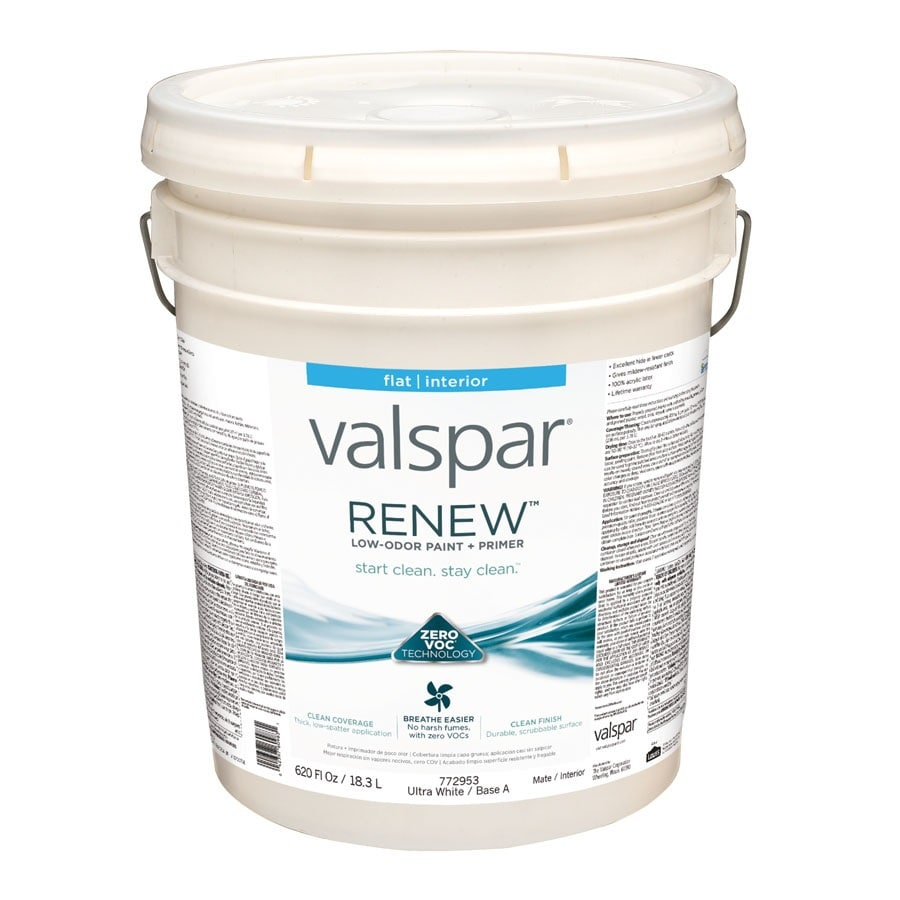 Valspar Renew Flat Latex Interior Paint and Primer in One (Actual Net Contents: 620-fl oz)