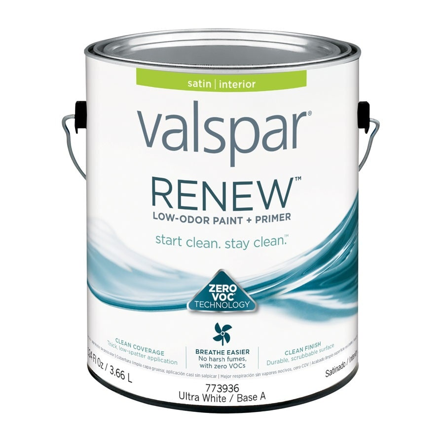 Valspar Renew Satin Latex Interior Paint and Primer in One (Actual Net Contents: 124-fl oz)