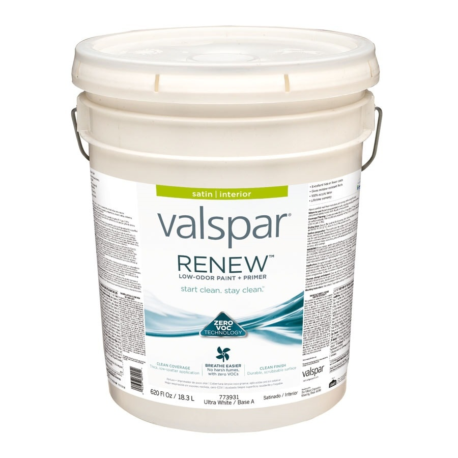 Valspar Renew Satin Latex Interior Paint and Primer in One (Actual Net Contents: 620-fl oz)