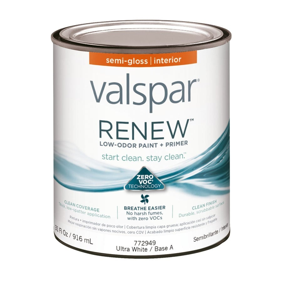 Valspar Renew Semi-Gloss Latex Interior Paint and Primer in One (Actual Net Contents: 31-fl oz)