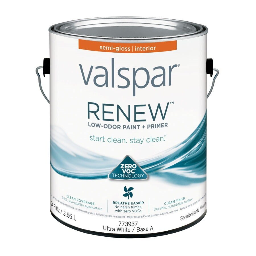 Valspar Renew Semi-Gloss Latex Interior Paint and Primer in One (Actual Net Contents: 124-fl oz)