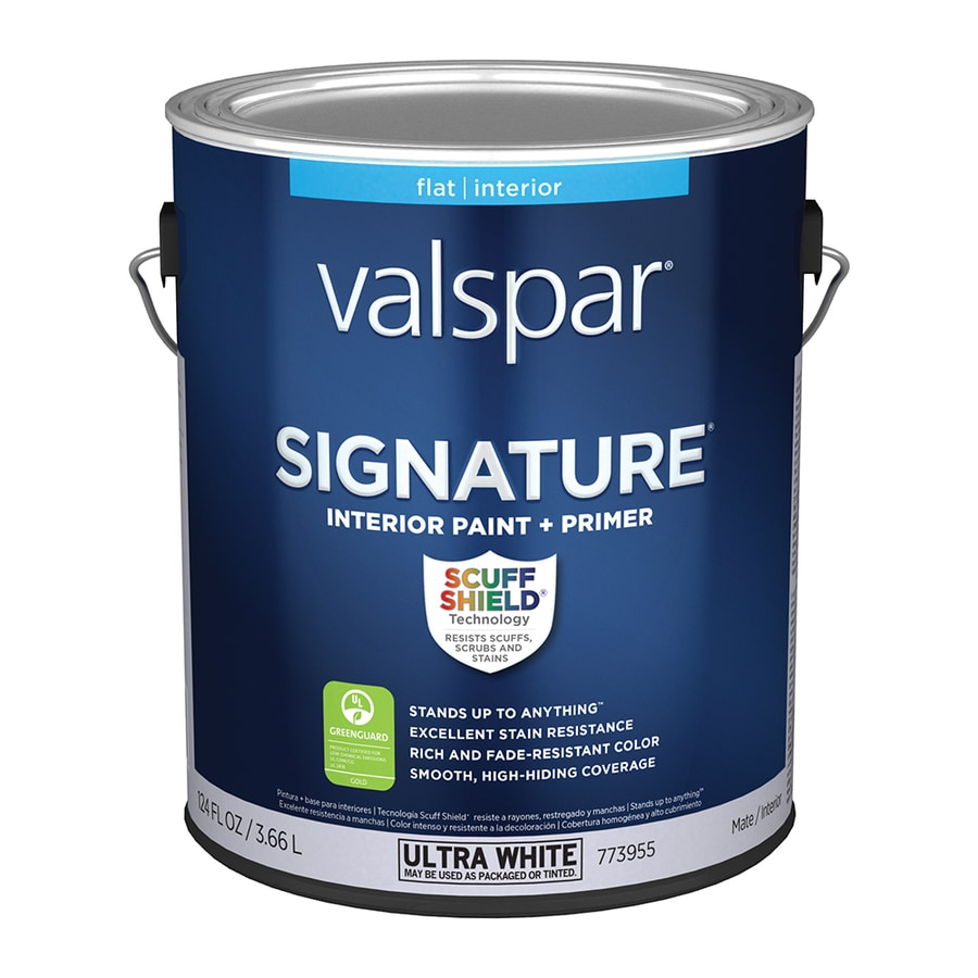 Shop Valspar Signature Flat Latex Paint And Primer In One