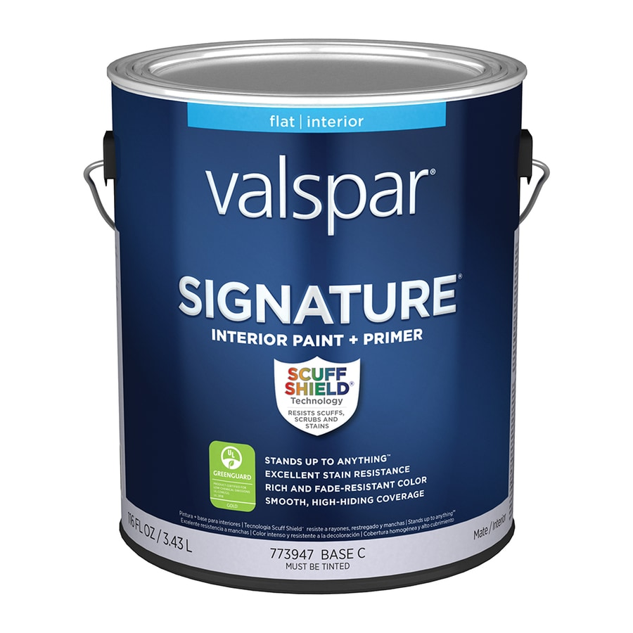 Valspar Signature Flat Latex Interior Paint and Primer in One (Actual Net Contents: 116-fl oz)