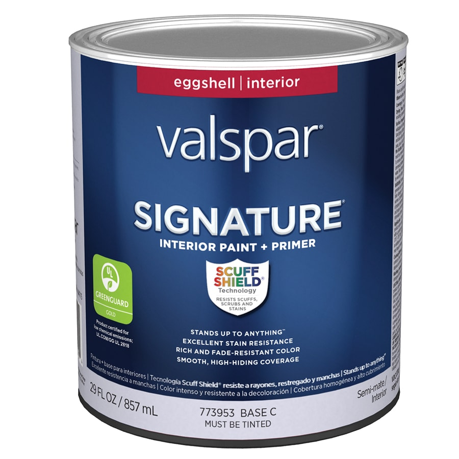 Shop Valspar Signature Eggshell Latex Interior Paint And Primer In One Actual Net Contents 29