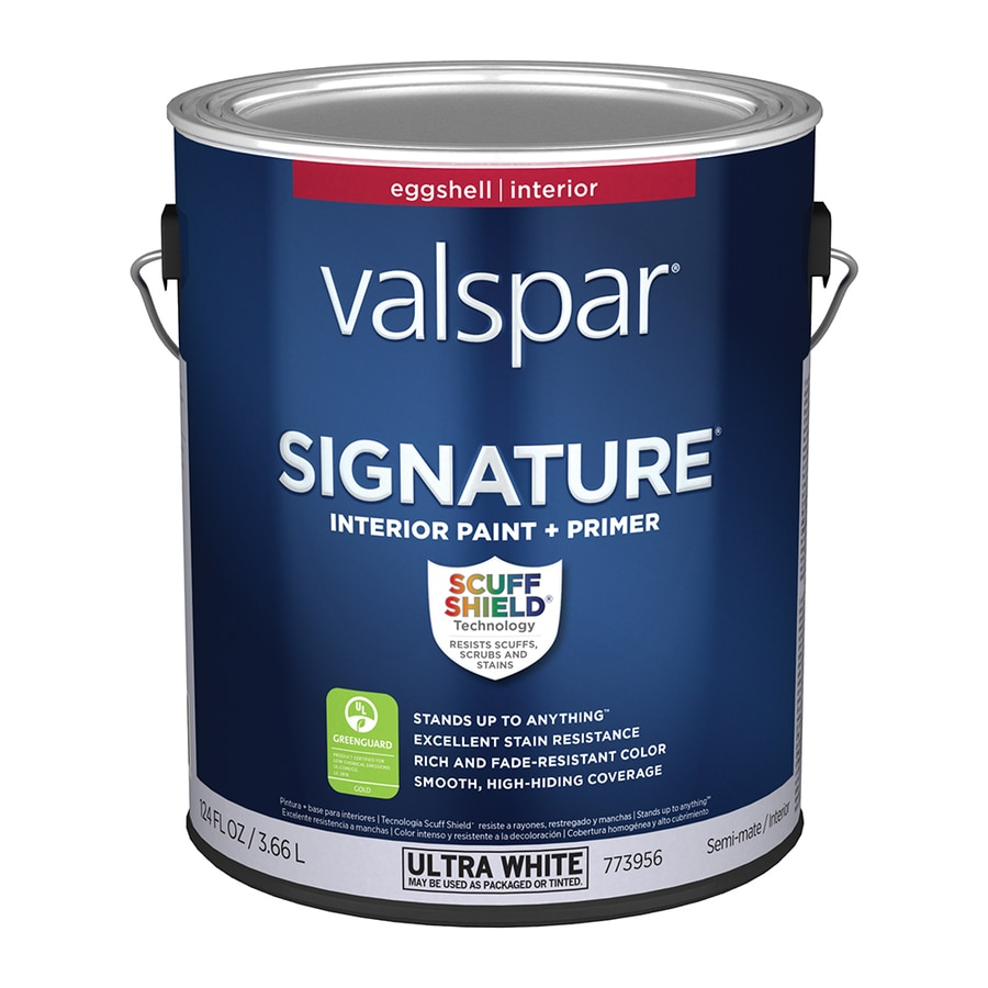 Shop valspar signature eggshell latex interior paint and primer in one actual net contents 124 Best satin paint
