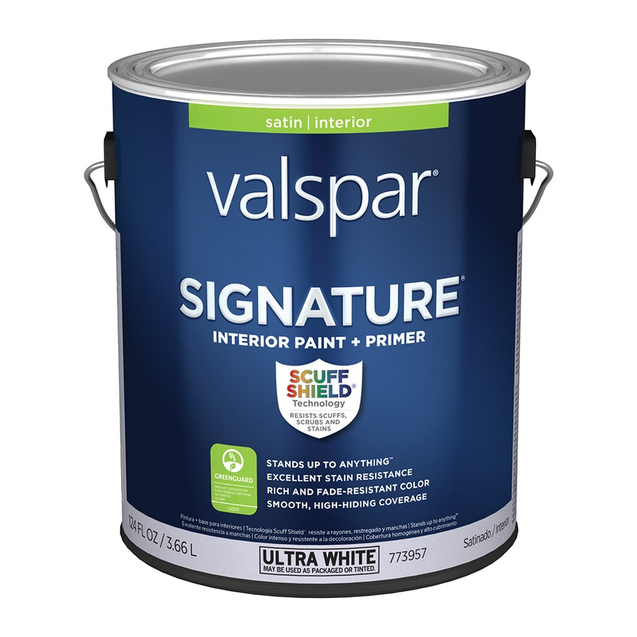 Paint And Primer >> Valspar Signature Satin Latex Tintable Paint Actual Net Contents