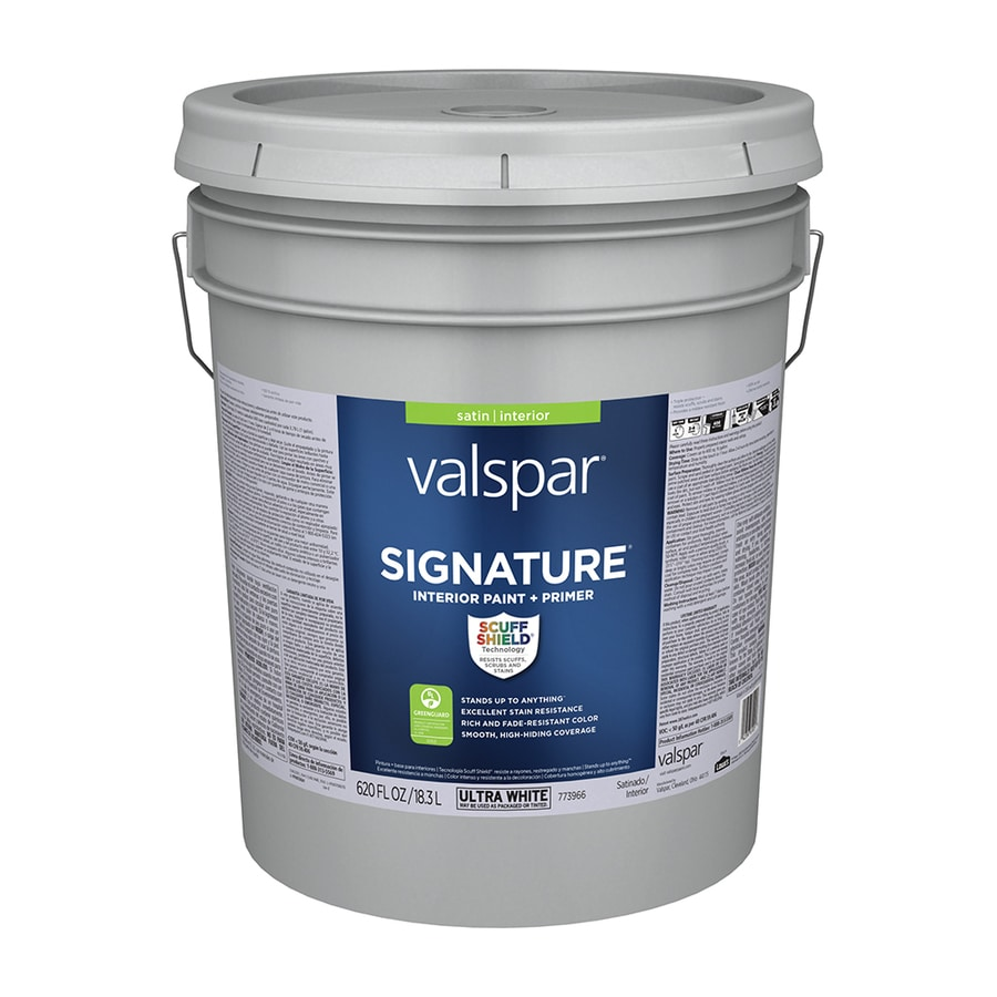 Valspar Signature Satin Latex Interior Paint And Primer In One (Actual Net  Contents: 620