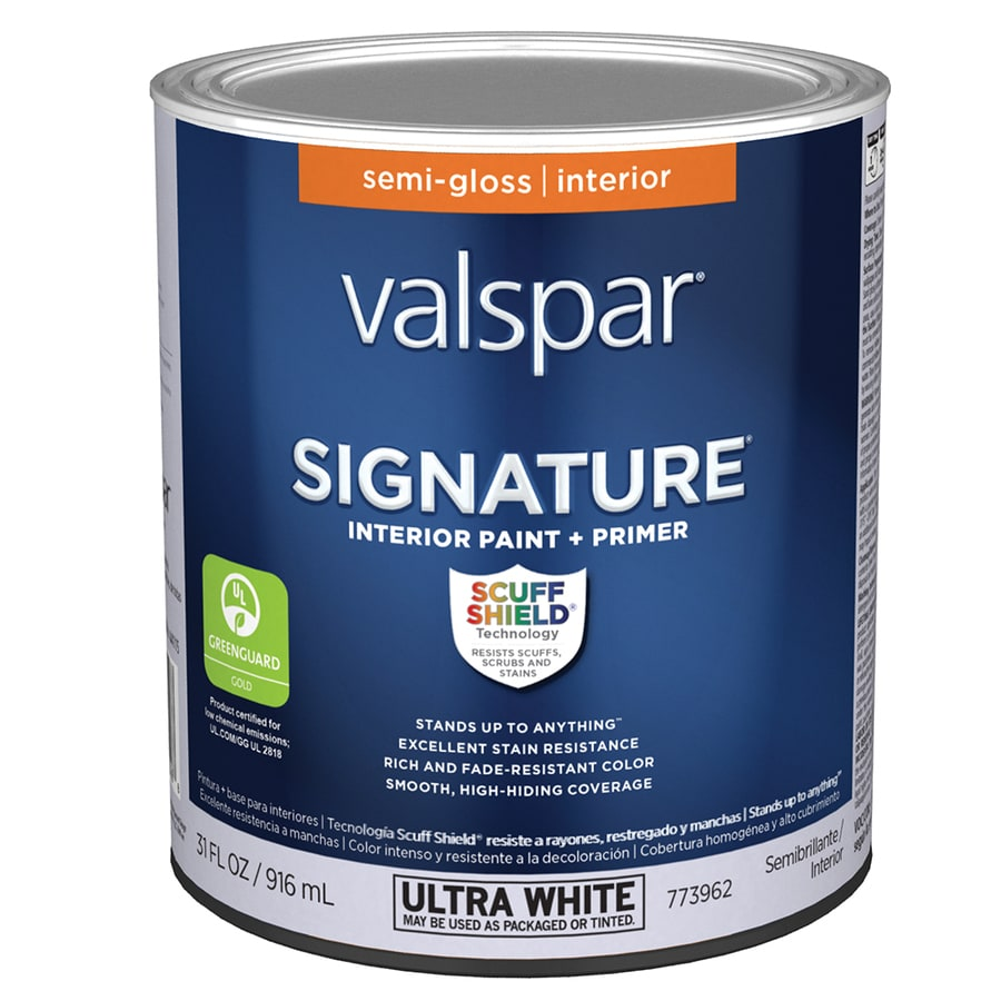 Shop Valspar Signature Semi Gloss Latex Interior Paint And Primer In One Actual Net Contents