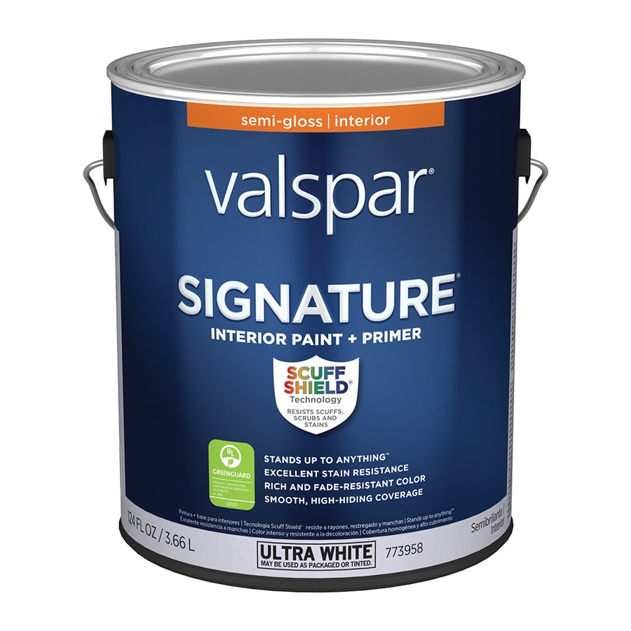 Valspar Signature Semi-gloss Latex Interior Paint and Primer in One (Actual Net Contents: 124-fl oz)