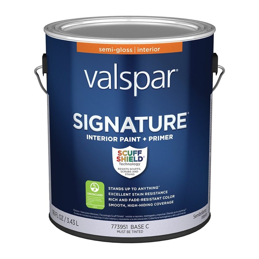 Shop Valspar Signature Semi Gloss Latex Interior Paint And
