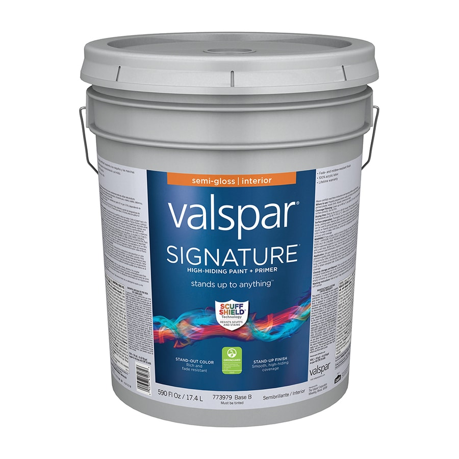 Valspar Signature Semi-Gloss Latex Interior Paint and Primer in One (Actual Net Contents: 590-fl oz)