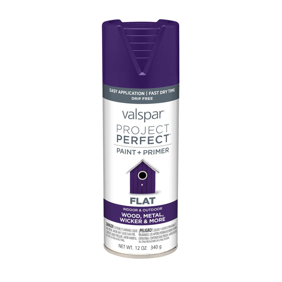 Valspar Project Perfect Sumptuous Purple Enamel Spray Paint (Actual Net Contents: 12-oz)