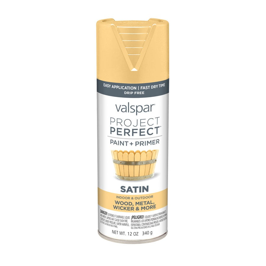 Valspar Project Perfect Whipped Appricot Fade Resistant Enamel Spray Paint (Actual Net Contents: 12-oz)