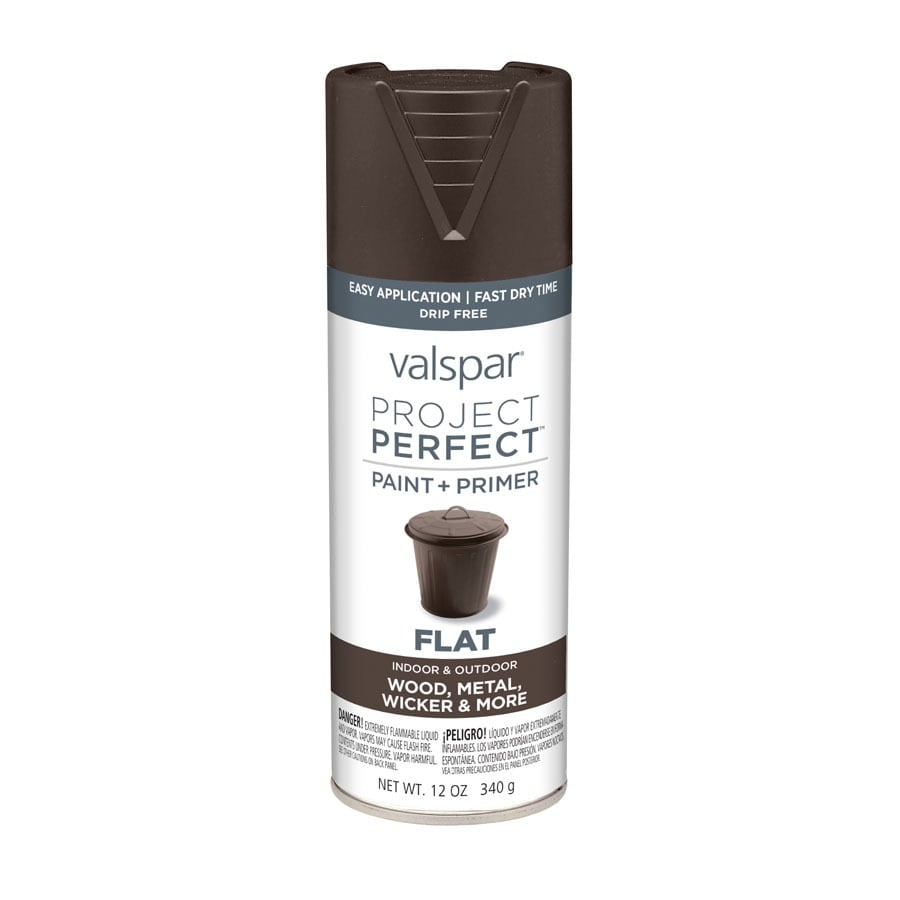 Valspar Project Perfect Brown Velvet Enamel Spray Paint (Actual Net Contents: 12-oz)