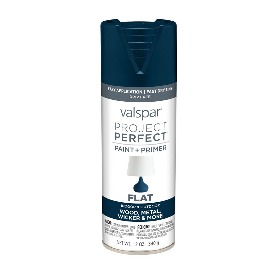 Valspar Project Perfect Indigo Streamer Enamel Spray Paint (Actual Net Contents: 12-oz)