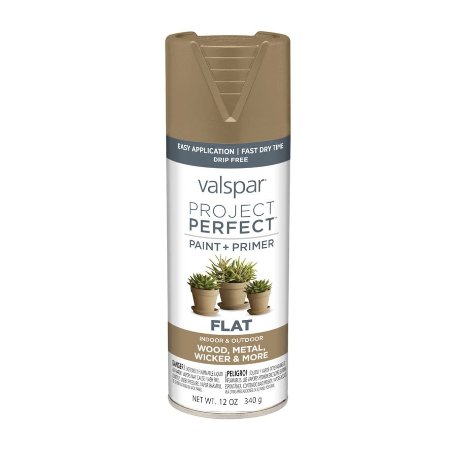 Valspar Project Perfect Rugged Fade Resistant Enamel Spray Paint (Actual Net Contents: 12-oz)