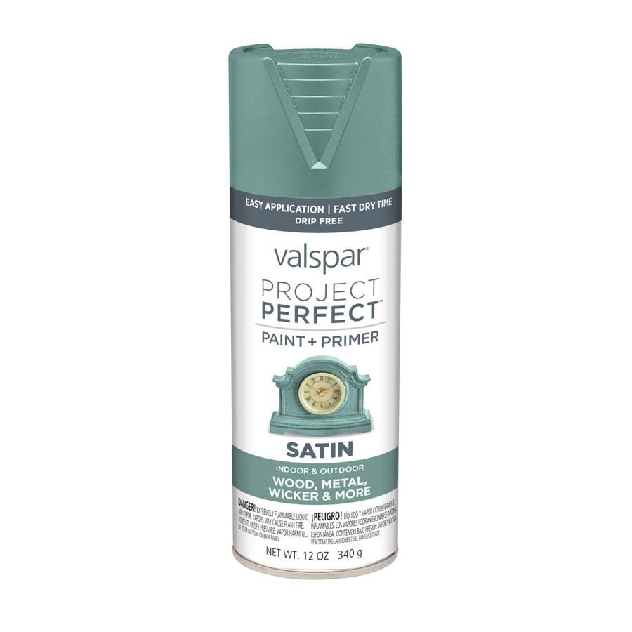 Shop Valspar Project Perfect Secluded Garden Enamel Spray Paint Actual Net Contents 12 Oz At