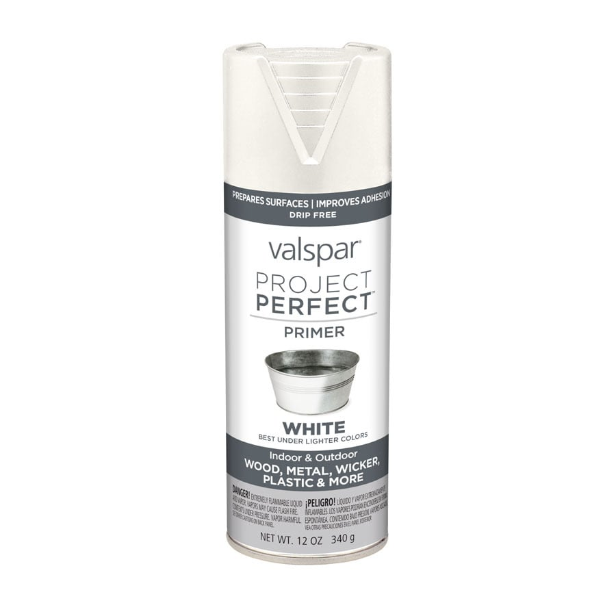 Valspar Project Perfect White Primer Enamel Spray Paint (Actual Net Contents: 12-oz)