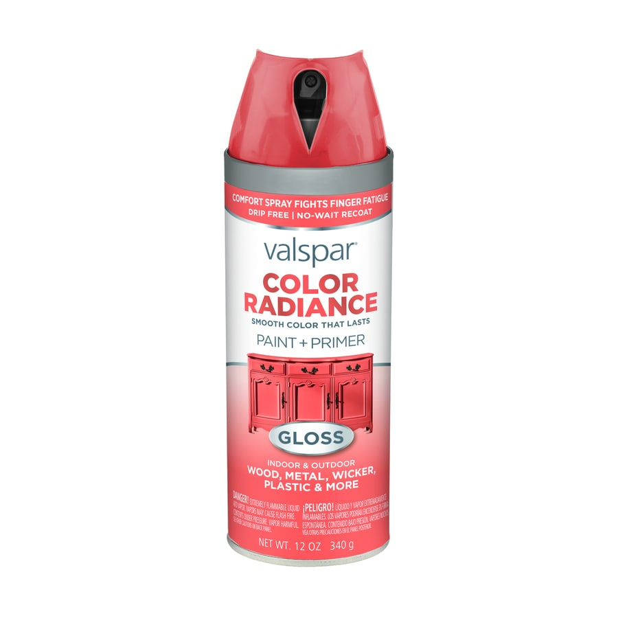 Shop Valspar Color Radiance Flamenco Pink Enamel Spray Paint Actual Net Contents 12 Oz At