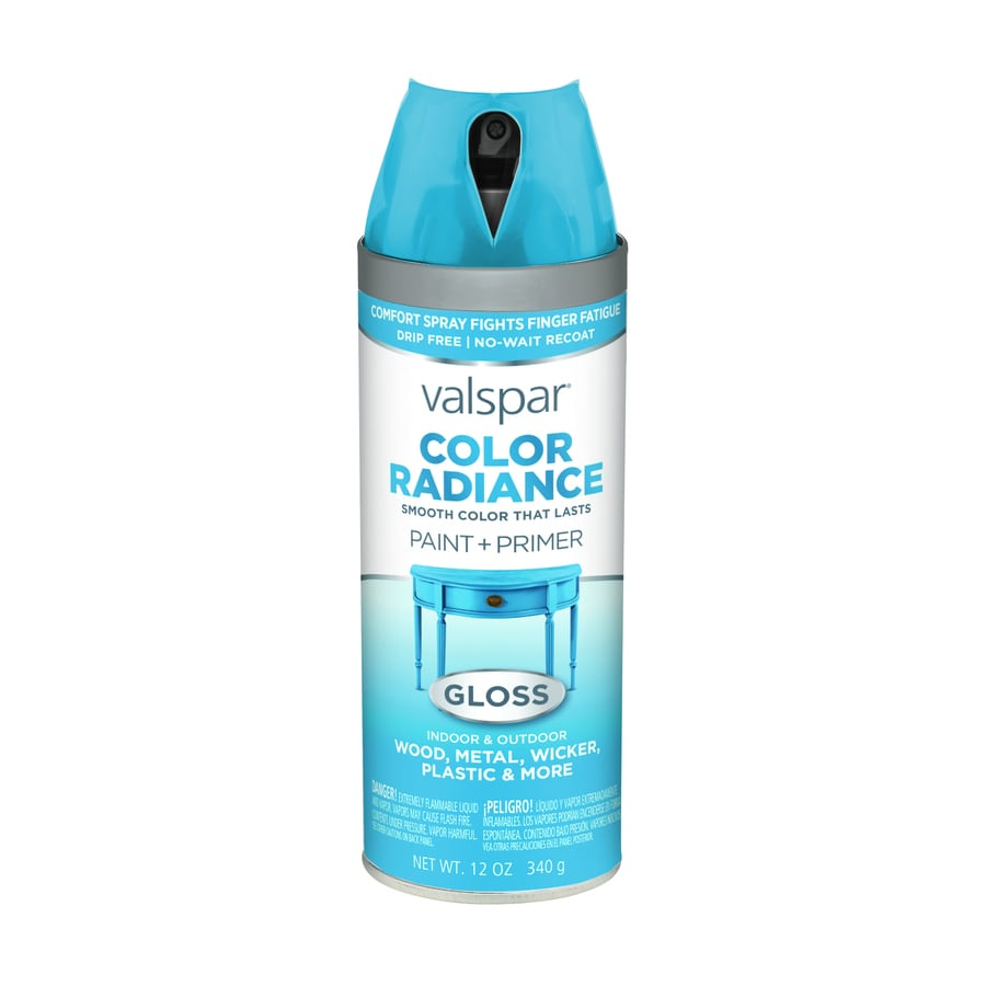 Shop Valspar Color Radiance Pool Party Enamel Spray Paint Actual Net Contents 12 Oz At